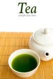 зеленый японский чай Стоковое Изображение RF