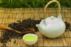 зеленый японский чай Стоковая Фотография