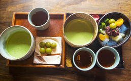 зеленый японский чай Стоковые Фотографии RF