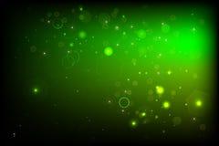 Зеленый BG с bokeh Иллюстрация штока
