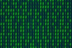 Зеленый binary Стоковые Фото