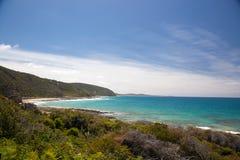 Зеленый seashore в Австралии Стоковое Изображение