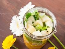 Зеленый smoothie с плодоовощ Стоковое фото RF