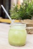 зеленый smoothie Superfood вытрезвителя Стоковое Изображение RF