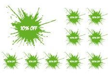 Зеленый spatter Стоковое Изображение