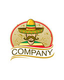 зеленым sombrero изолированный шлемом мексиканский Стоковое фото RF