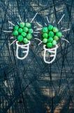 2 зеленых лампы с горохами Стоковые Фото