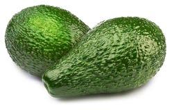 2 зеленых изолированного авокадоа Стоковое фото RF