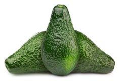 3 зеленых изолированного авокадоа Стоковые Изображения RF