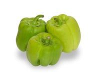 3 зеленых изолированного перца Стоковая Фотография RF
