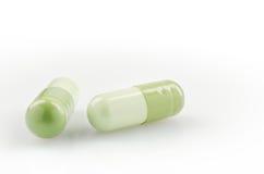 2 зеленых капсулы Стоковое Изображение RF