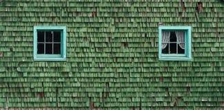 2 зеленых окна Стоковая Фотография RF