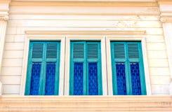3 зеленых окна Стоковая Фотография RF