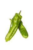 2 зеленых перца Стоковое Изображение RF