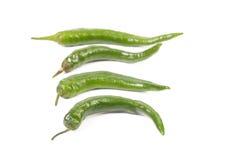 4 зеленых перца Стоковое фото RF