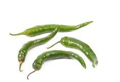 4 зеленых перца Стоковые Изображения RF