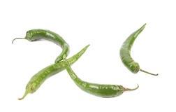 4 зеленых перца. Стоковая Фотография