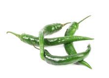 4 зеленых перца. Стоковое Изображение RF