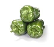 3 зеленых перца Стоковое Изображение