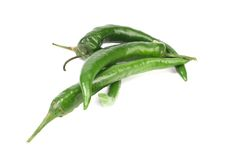 4 зеленых перца. Стоковое Фото