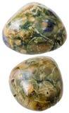 2 зеленых драгоценной камня риолита (яшмы тропического леса) Стоковое Фото