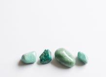 4 зеленых самоцветных камня Стоковая Фотография RF