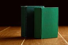 2 зеленых старых книги Стоковые Фото
