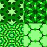 4 зеленых текстуры Стоковые Фотографии RF