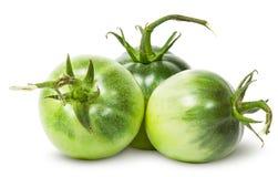 3 зеленых томата близко Стоковые Изображения