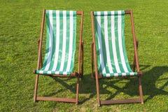 2 зеленых шезлонга Стоковое Изображение RF