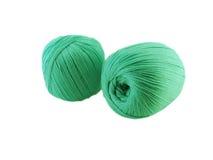 2 зеленых шерстяных шарика Стоковая Фотография RF