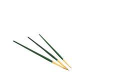 3 зеленых щетки Стоковая Фотография RF