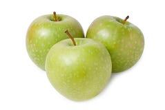 3 зеленых яблока Стоковая Фотография