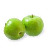 2 зеленых яблока Стоковая Фотография RF