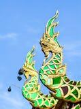 Зелен-золотой дракон Стоковое фото RF