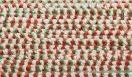 Зелен-красн-белым материал текстурированный цветом Стоковое Изображение