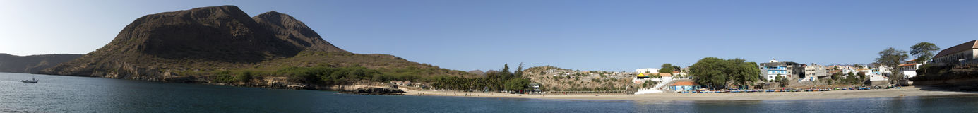 Зелёный залив, Tarrafal, остров Сантьяго, Кабо-Верде Стоковые Фотографии RF