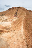Зига горы в Bardenas Reales, Navarra, Испании Стоковые Фотографии RF