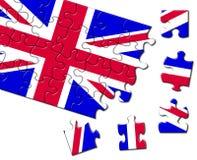 зигзаг Великобритания флага Стоковые Изображения RF
