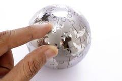 зигзаг глобуса Стоковые Фото