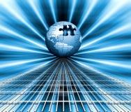 зигзаг глобуса Стоковое Изображение RF