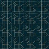 Зигзаг дизайна стиля Арт Деко выравнивает золотую геометрическую картину иллюстрация вектора