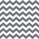 зигзаг картины безшовный Классический традиционный геометрический орнамент большие серые нашивки на белой предпосылке Стоковые Фотографии RF