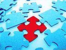 зигзаг крупного плана соединяет головоломку Стоковое Фото
