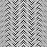 Зигзаг, рифлёные, serrated линии Динамические, скачками нашивки Стоковое Изображение RF