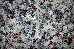 зигзаг соединяет головоломку Стоковые Фото