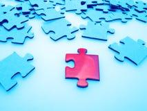 зигзаг соединяет головоломку Стоковая Фотография RF