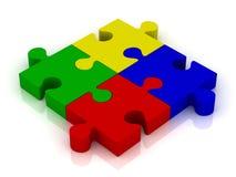 зигзаг соединяет отражение головоломки Иллюстрация штока