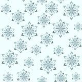зима абстрактной картины безшовная Снежинки различных размеров Стоковые Изображения