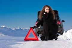 зима автомобиля нервного расстройства Стоковая Фотография